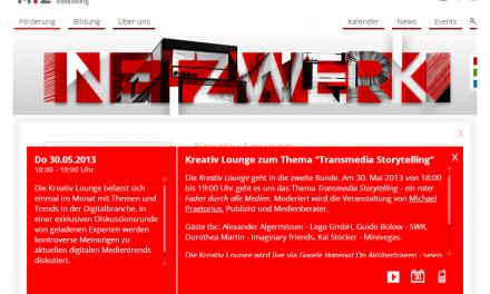 "Kreativ Lounge: ""Transmedia Storytelling"""