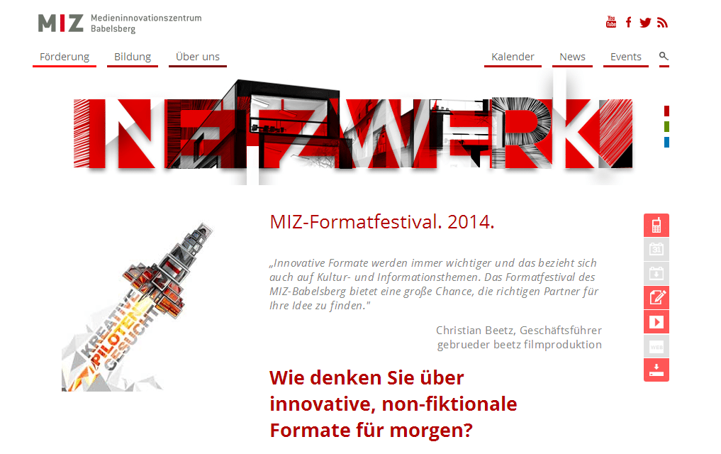 MIZ-Formatfestival: Call for papers