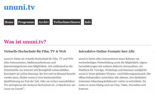 TMSB goes ununi.tv
